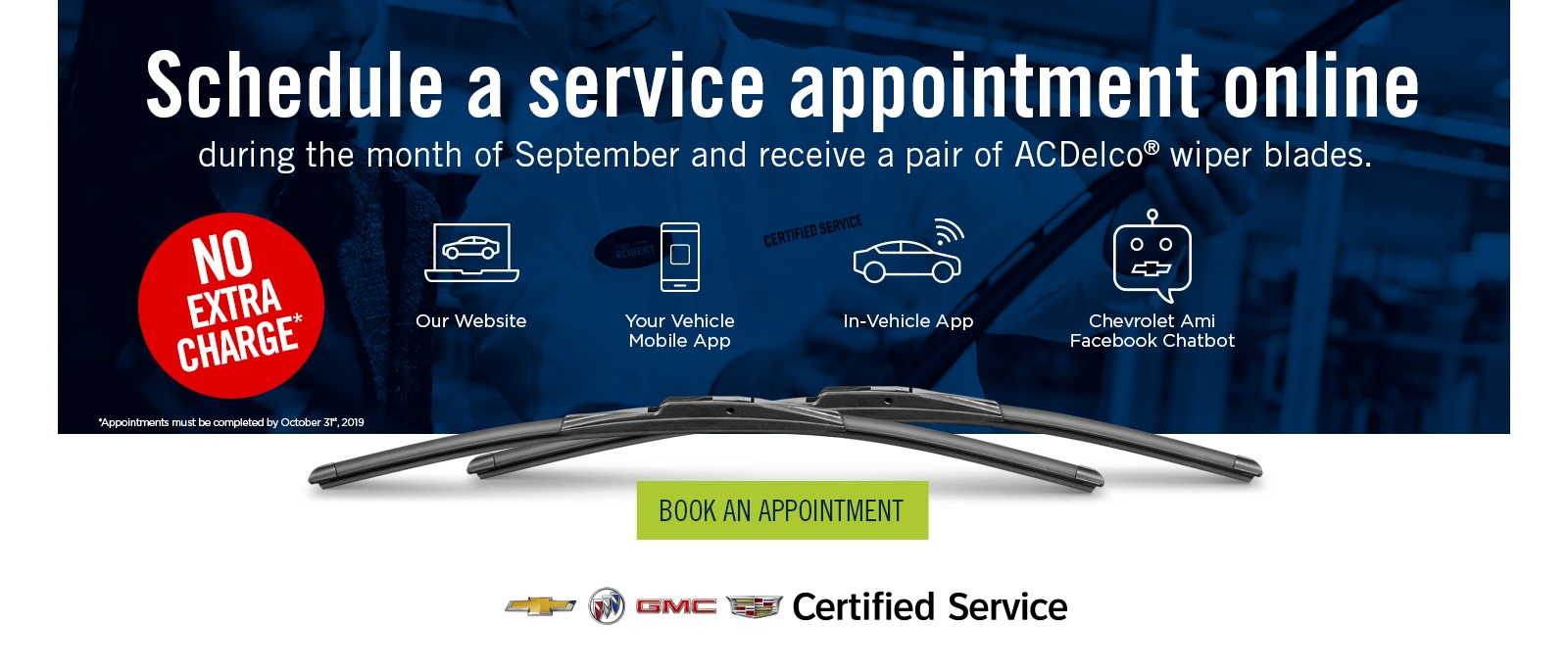 FREE pair of ACDelco® wiper blades at Northstar GM