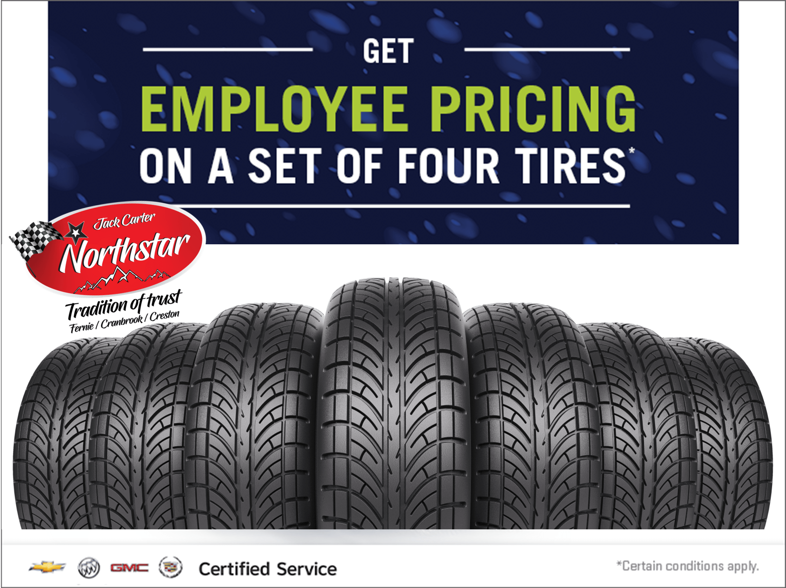 Employee Pricing on a set of 4 tires