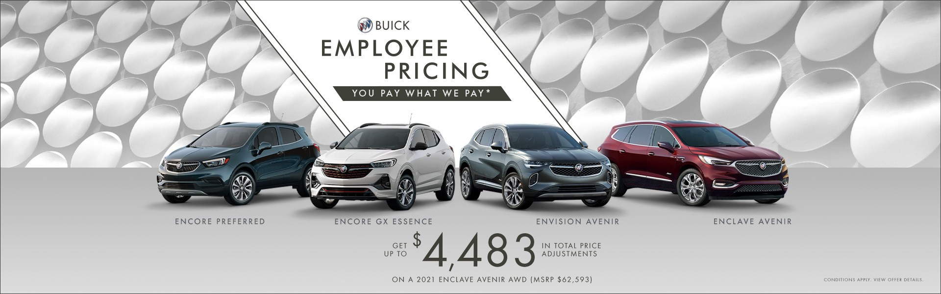 Buick Employee Pricing Specials Offers Incentives Jack Carter Northstar GM Cranbrook BC