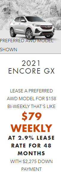 2021 Buick Encore GX Specials Offers Incentives Jack Carter Northstar GM Cranbrook BC