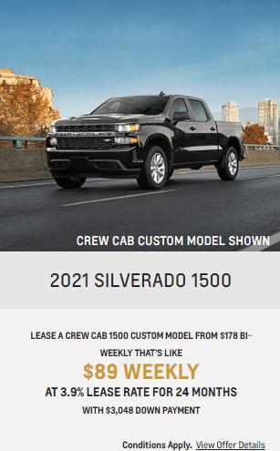 2021 Chevy Silverado 1500 Chevrolet Special Offers Incentive  Jack Carter Northstar GM Cranbrook