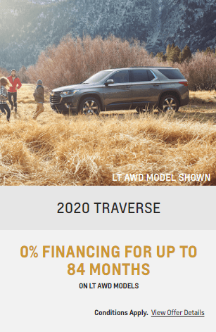 2020 Chevy Tranverse Chevrolet Special Offers Incentive  Jack Carter Northstar GM Cranbrook