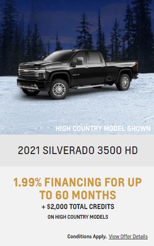 2021 Chevy Siverado 3500 Chevrolet Special Offers Incentive  Jack Carter Northstar GM Cranbrook