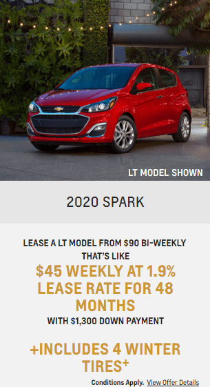2020 Chevy Spark Chevrolet Special Offers Incentive Jack Carter Northstar GM Cranbrook