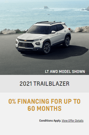 2021 Chevy Trailblazer Chevrolet Special Offers Incentive Jack Carter Northstar GM Cranbrook