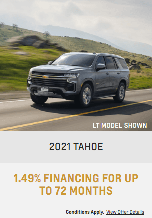 2021 Chevy Tahoe Special Offers Incentive Jack Carter Northstar GM Cranbrook