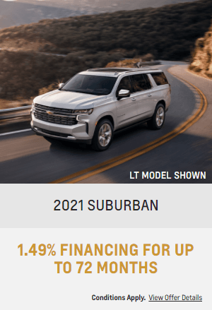 2021 Chevy Suburban Specials Offers Incentives Jack Carter Northstar GM Cranbrook