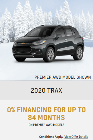 2020 Chevy Trax Special Offers Incentive Jack Carter Northstar GM Cranbrook