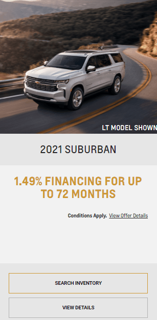 2021 Chevy Suburban Chevrolet Special Offers Incentive Black Friday Jack Carter Northstar GM Cranbrook