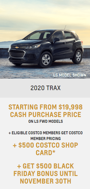 2020 Chevy Trax Chevrolet Special Offers Incentive Black Friday Jack Carter Northstar GM Cranbrook